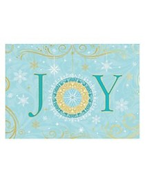 Joy Christmas Greeting Card BLUE