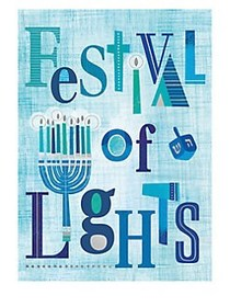 Festival of Lights Greeting Card BLUE