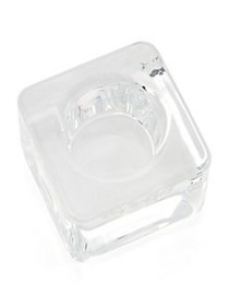 Crystal Ice Cube Votive CLEAR