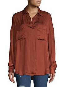 Starry Dreams Oversized Blouse BROWN