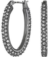 Lucky Brand Small Pave Hoop Earrings