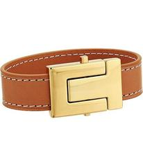 Tory Burch T-Logo Leather Single Wrap Bracelet