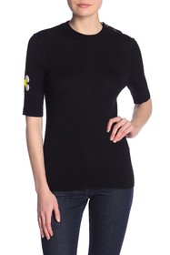 Marc Jacobs Solid Merino Wool Knit Top