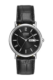 Citizen Men's Eco-Drive Croc Embossed Leather Stra