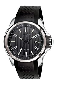 Citizen Men's AR Eco-Drive Perforated Strap Watch