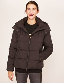 FUNNELNECK HOODED DOWN-FILL PUFFER