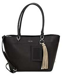Susan Small Leather Tote BLACK
