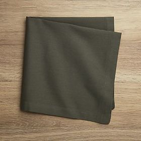 Fete Olive Green Cotton Napkin