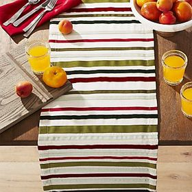 "Holiday Ribbons 120"" Table Runner"
