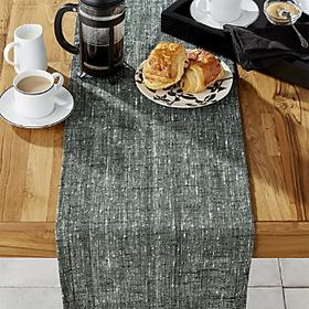 "Marley 90"" Green Table Runner"