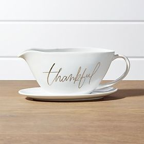 Thankful Gravy Boat