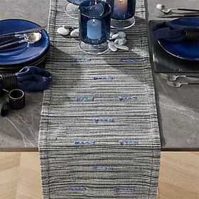 Aragon Indigo Striped Table Runner