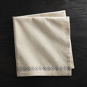 Ellis Embroidered Patterned Napkin