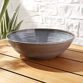 Caprice Grey Melamine Serving Bowl