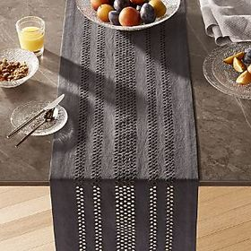 Jemme Grey Table Runner