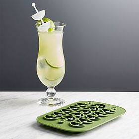 Lime Wedge Swizzle Stick Ice Mold