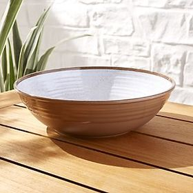 Caprice White Melamine Serving Bowl