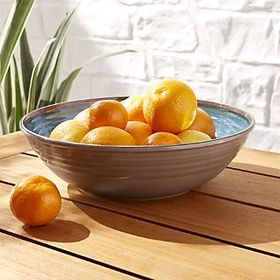 Caprice Blue Melamine Serving Bowl