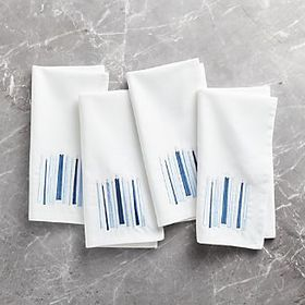 Hanukkah Embroidered Napkins, Set of 4