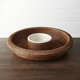 Artesia Honey Rattan Chip and Dip
