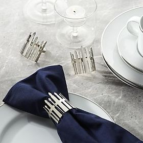 Hanukkah Candles Napkin Ring