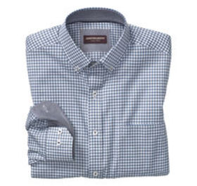 Double Rope Check Button-Down Collar Shirt