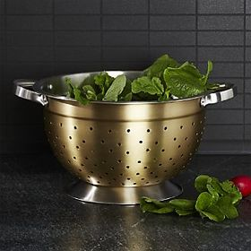 Gold Accent Footed Colander