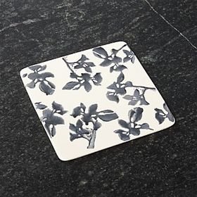 Midnight Botanical Ceramic Trivet