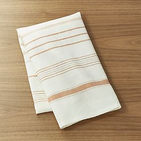 Brennan Orange Stripe Dish Towel