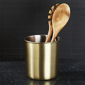 Gold Utensil Holder