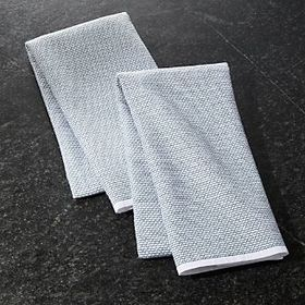 Textured Terry Spruce Dish Towels, Set of 2