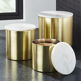Thompson Gold/Marble Canisters