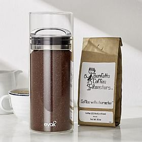Prepara EVAK Airtight Glass Coffee Canister with C