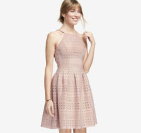 Perforated Halter Dress