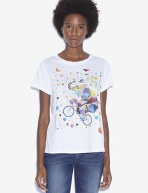 WOMEN'S STREET ART BY TIM MARSH CREWNECK TEE