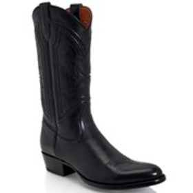 Mens Braided Leather Western Boots