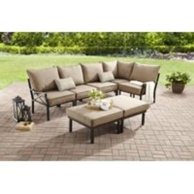Mainstays Sandhill 7-Piece Outdoor Sofa Sectional