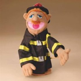Melissa & Doug Firefighter Puppet With Detachable