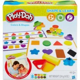 Play-Doh Shape & Learn Colors & Shapes with 8 Cans
