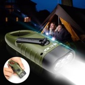 MECO Solar Powered Hand Crank Flashlight- Recharge