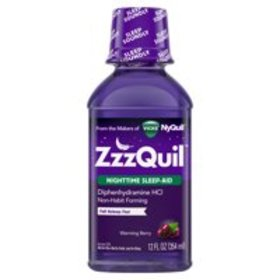 ZzzQuil Nighttime Sleep Aid Liquid by Vicks, Warmi