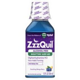 ZzzQuil Nighttime Sleep Aid Alcohol Free Liquid by