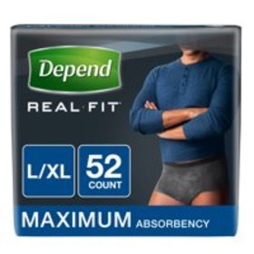 Depend Real Fit Incontinence Briefs for Men, Maxim