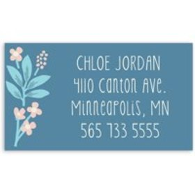 Thankful Florist - Personalized 3.5 x 2 Business C