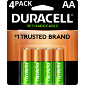Duracell 1.5V Rechargeable Alkaline AA Batteries,
