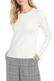 Halogen Halogen(R) Scallop Trim Sweater (Regular &