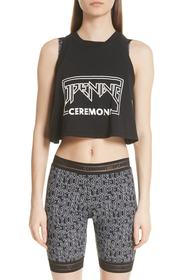 Opening Ceremony Mixed Font Logo Crop Tank Top
