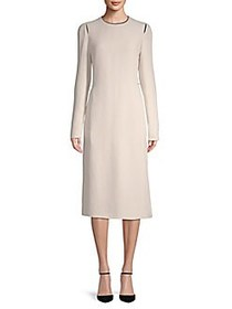 Long-Sleeve Midi Dress ECRU