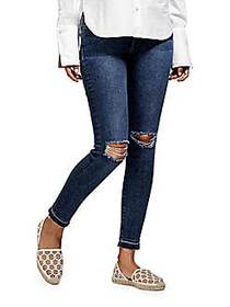 Margaux Ankle-Length Distressed Jeans CRACKED