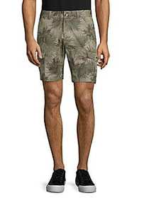 Novelty Ross Tropical-Print Cotton Cargo Shorts KH
